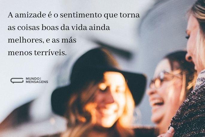 a amizade é o sentimento que torna as