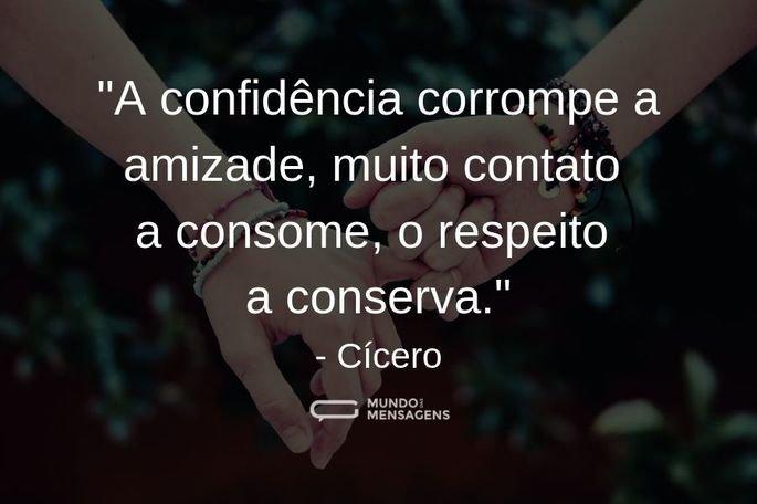 A confidência corrompe
