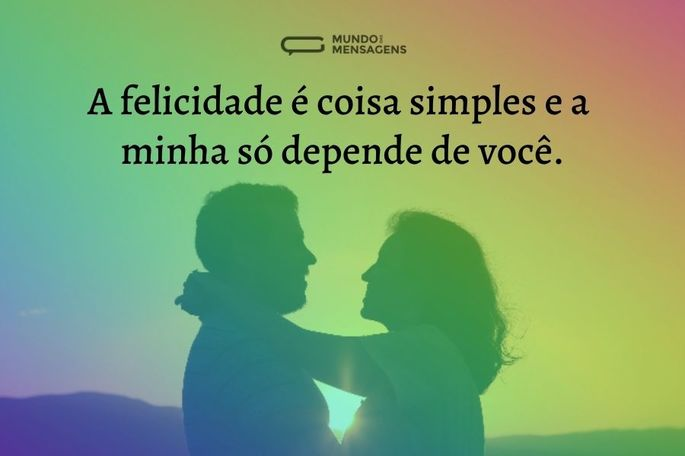 a felicidade é coisa simples