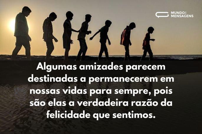 Algumas amizades parecem destinadas a permanecerem em nossas vidas para sempre, pois são elas a verdadeira razão da felicidade que sentimos.