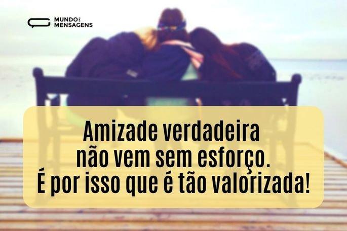 Amizade verdadeira não vem sem esforço. É por isso que é tão valorizada!