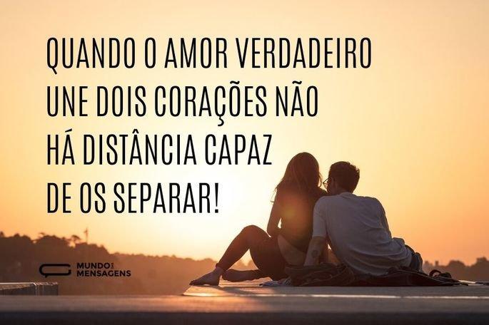 Quando o amor verdadeiro une dois corações não há distância capaz de os separar!