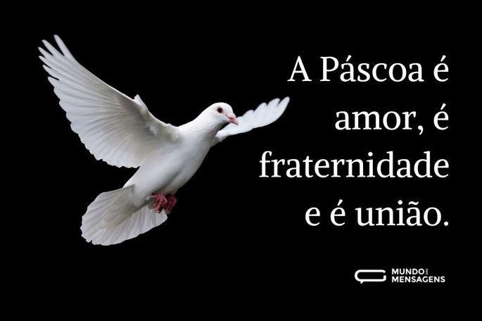 A Páscoa é amor...