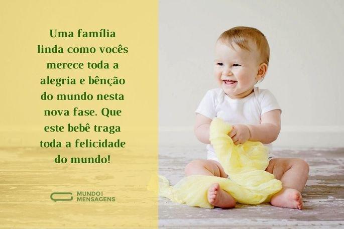 Uma família linda como vocês merece toda a alegria e bênção do mundo nesta nova fase. Que este bebê traga toda a felicidade do mundo!