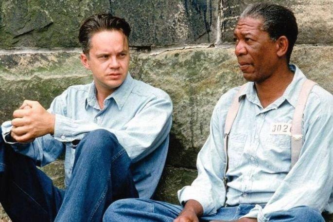 Um sonho de liberdade foi dirigido por Frank Darabont e estreado em 1994, com Tim Robbins e Morgan Freeman nos papéis principais