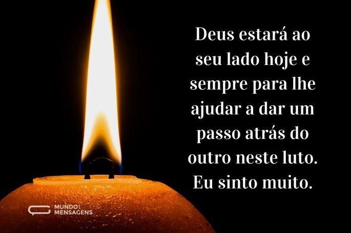 Deus estará ao seu lado hoje e sempre para lhe ajudar a dar um passo atrás do outro neste luto. Eu sinto muito.