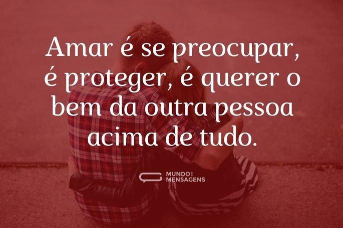 Amar é proteger