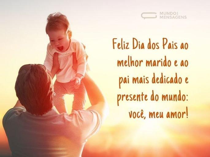 Feliz Dia dos Pais ao melhor marido e ao pai mais dedicado e presente do mundo_ você, meu amor!
