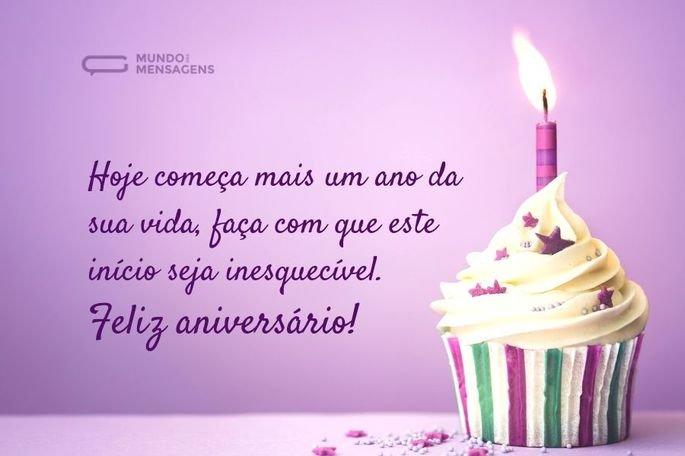 Hoje começa mais um ano da sua vida, faça com que este início seja inesquecível. Feliz aniversário!