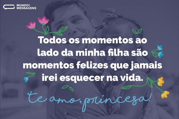 Todos os momentos ao lado da minha filha são momentos felizes que jamais irei esquecer na vida. Te amo, princesa!