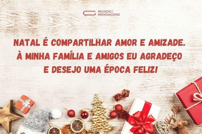 natal é compartilhar amor e amizade
