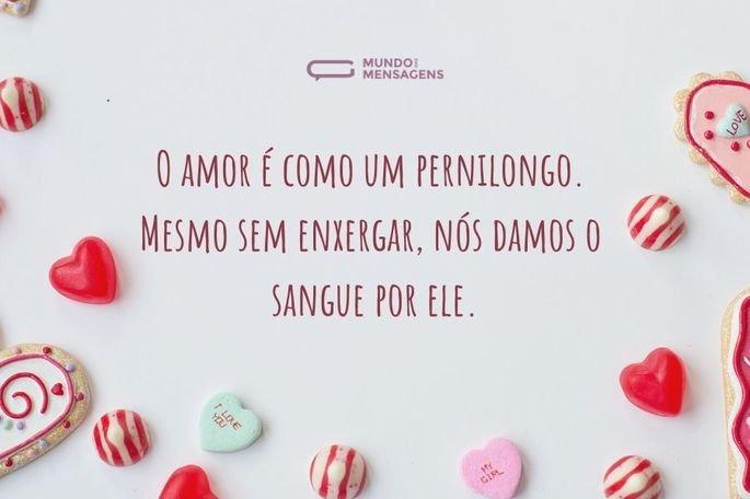 O amor é como um pernilongo