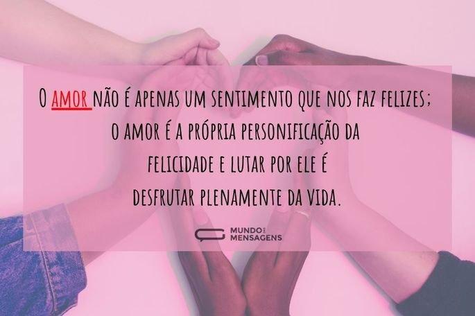 o amor não é apenas um sentimento