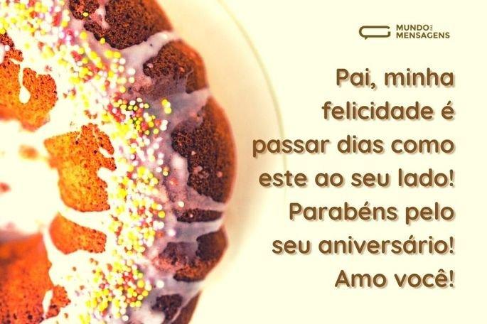 Pai, minha felicidade é passar dias como este ao seu lado! Parabéns pelo seu aniversário! Amo você!