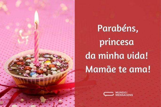 parabéns, princesa da minha vida!