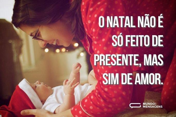 O natal não é só feito de presente, mas sim de amor.
