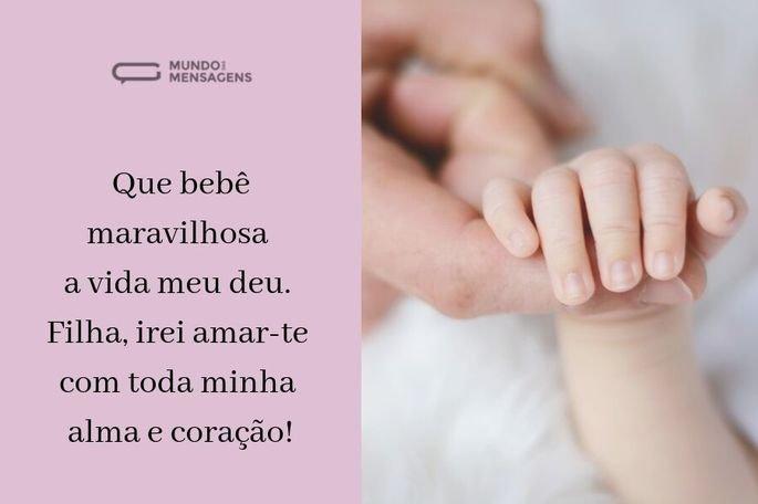 Que bebê maravilhosa a vida meu deu. Filha, irei amar-te com toda minha alma e coração!