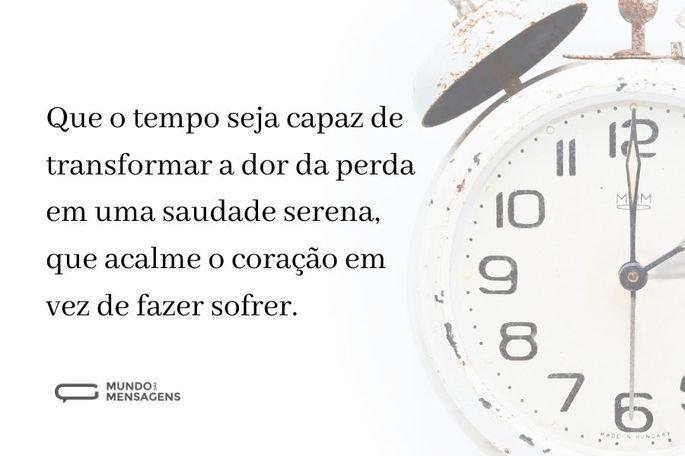que o tempo seja