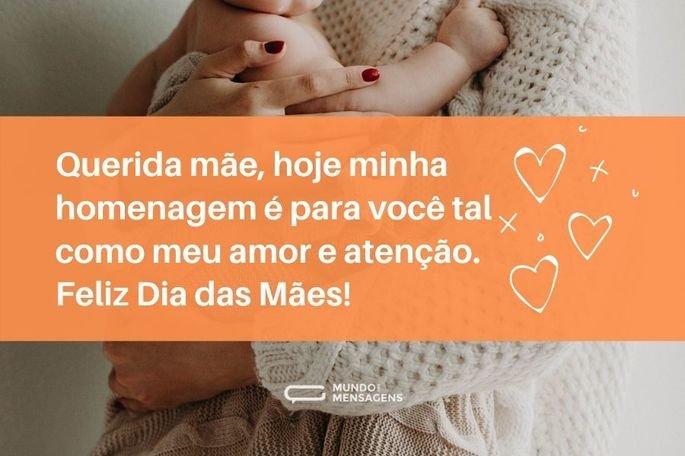 Querida mãe, hoje minha homenagem é para você tal como meu amor e atenção. Feliz Dia das Mães!