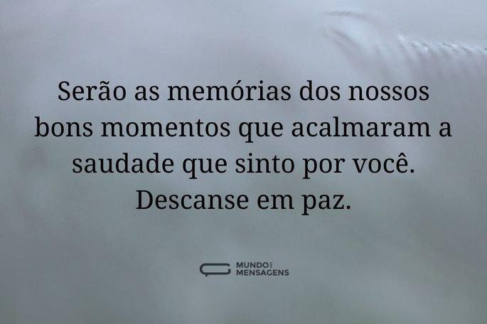 serão as memórias