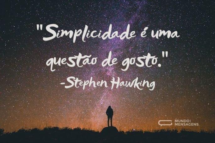 Simplicidade é uma questão de gosto.