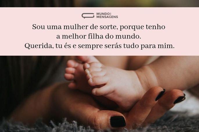 Sou uma mulher de sorte, porque tenho a melhor filha do mundo. Querida, tu és e sempre serás tudo para mim.