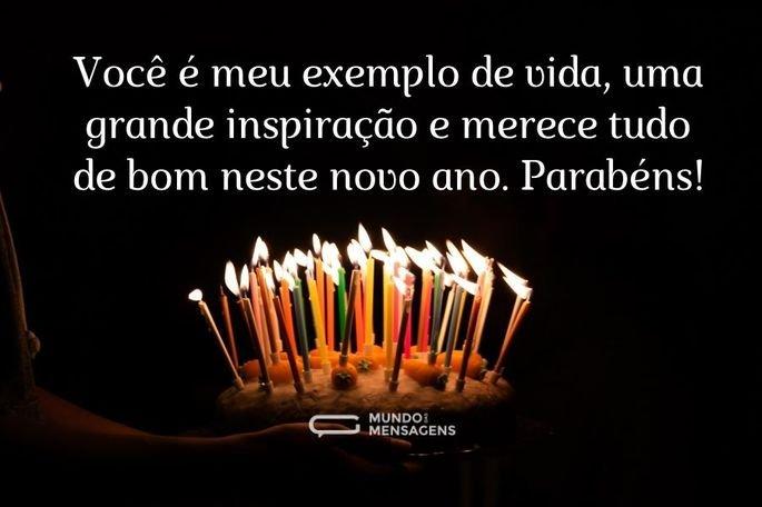 Você é meu exemplo de vida, uma grande inspiração e merece tudo de bom neste novo ano. Parabéns!