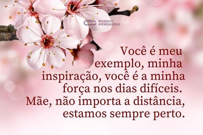 Você é meu exemplo, minha inspiração, você é a minha força nos dias difíceis. Mãe, não importa a distância, estamos sempre perto.