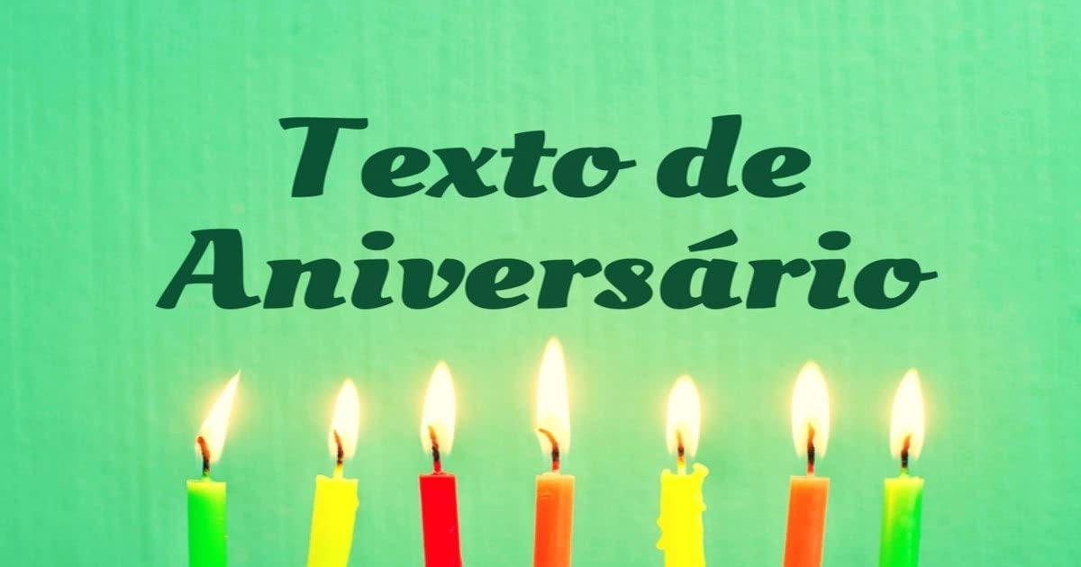 Texto De Aniversário Mundo Das Mensagens