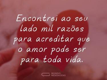 O nosso amor será eterno