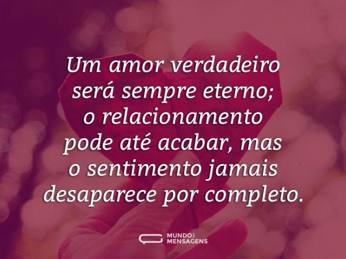 O amor verdadeiro e eterno