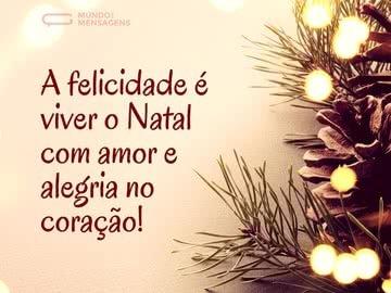 A Felicidade é Viver o Natal