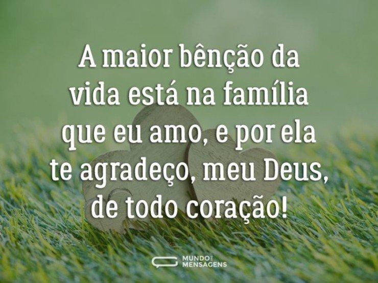 Gratidão A Deus Pela Família Que Amo