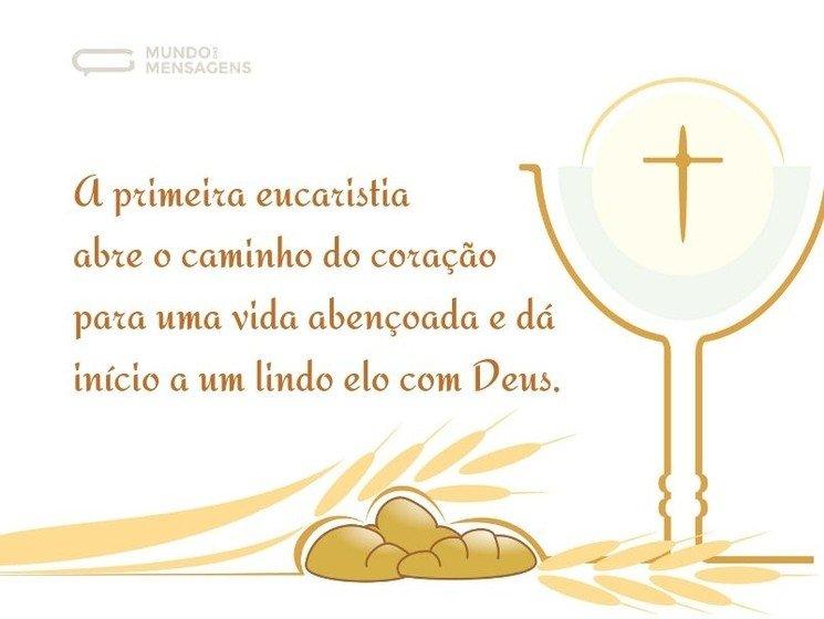 Mensagens De Primeira Eucaristia Mundo Das Mensagens