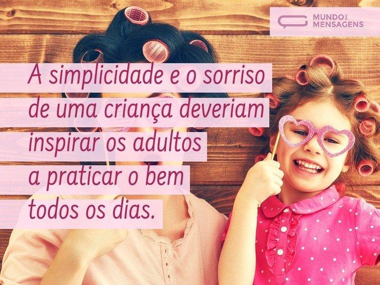 A simplicidade e o sorriso de uma criança