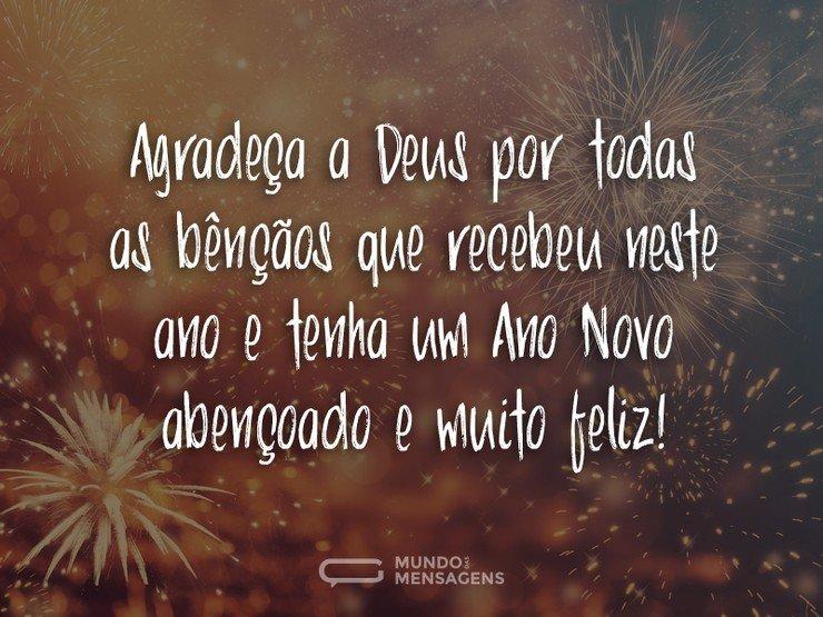 Ano Novo Abençoado E Feliz