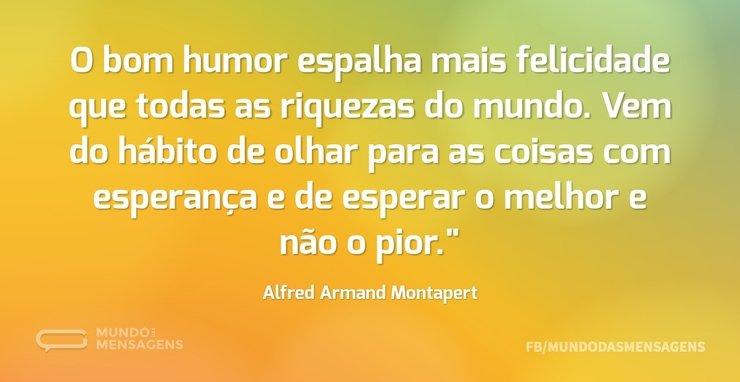 O bom humor espalha mais felicidade que ...