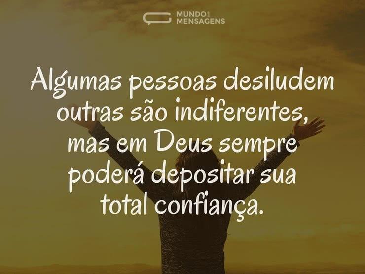 Total confiança em Deus