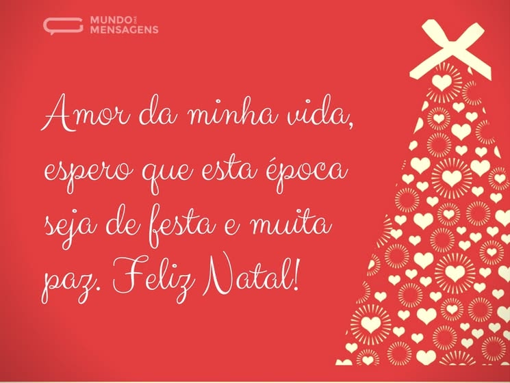 Feliz Natal Amor Mundo Das Mensagens