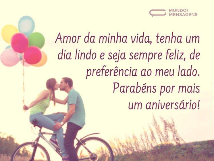 A Missão De Te Fazer Feliz é Minha: Feliz Aniversário Meu Amor