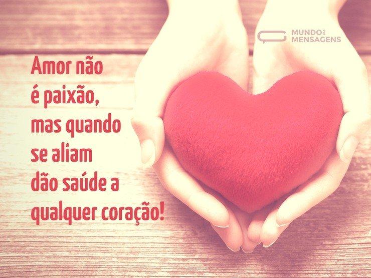 Amor, paixão e saúde para o coração