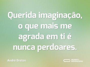 Querida imaginação, o que mais me agrada em ti é nunca perdoares.