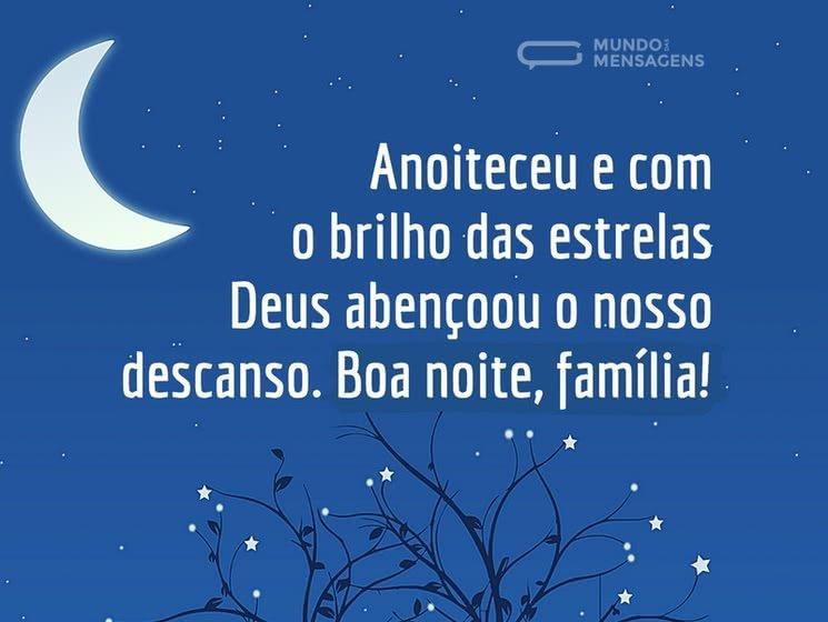 Lindos Vídeos Lindas Mensagens Oração Da Noite: Boa Noite Família Abençoada