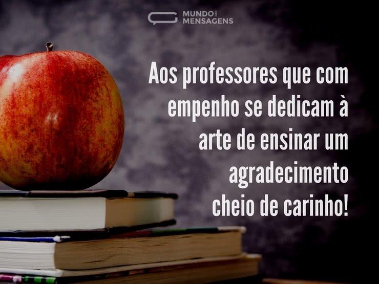 Um Carinhoso Agradecimento Aos Professores