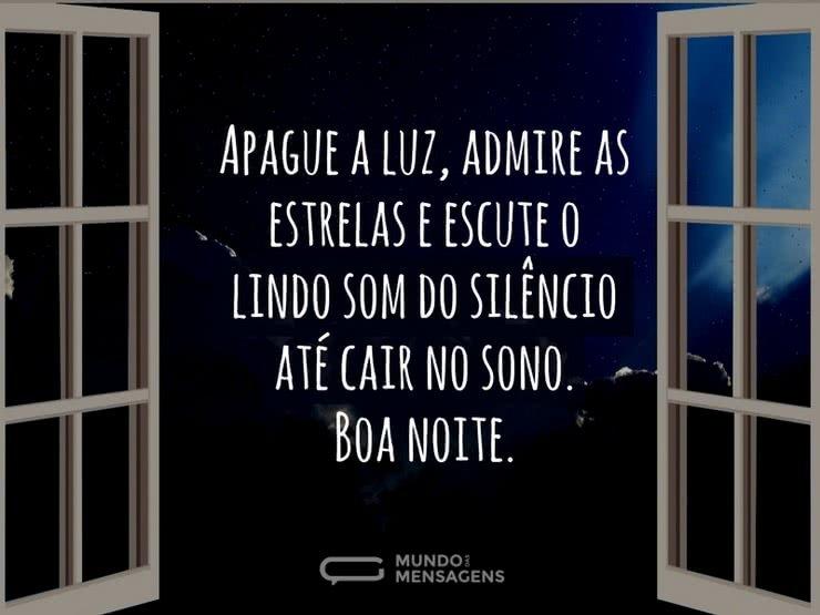 Mensagens De Boa Noite Especial: O Lindo Som Do Silêncio Da Noite