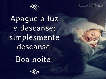 Descanse e Boa Noite