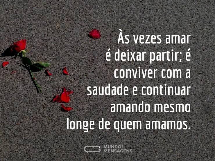 Amar é Deixar Partir