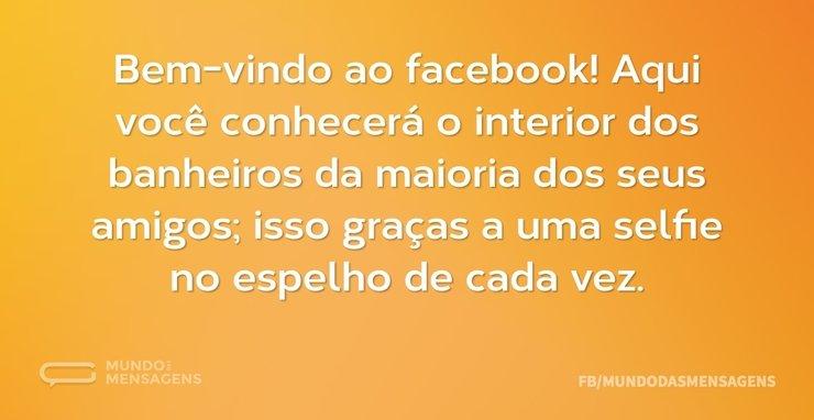 Frases De Bem Vindo Ao Facebook Mundo Das Mensagens