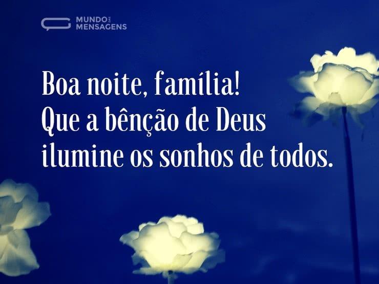 Tenham Uma Boa Noite Família Mensagem De Boa Noite: Uma Bênção De Luz