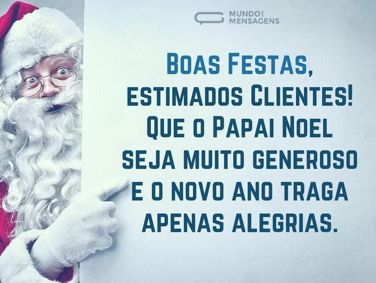 Mensagens De Natal Para Clientes Mundo Das Mensagens